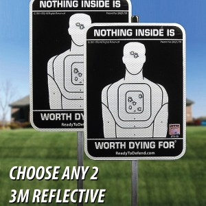 2-Pack of 3M Reflective Yard Signs - Your Choice of Message!-0