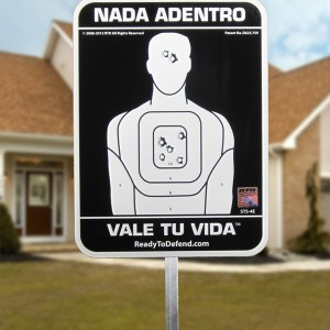 SUPER SALE! - Nothing... NADA ADENTRO VALE TU VIDA Yard Sign - Non Ref.-0