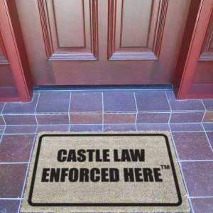 Door Mat - CASTLE LAW ENFORCED HERE™ - Premum Quality-0