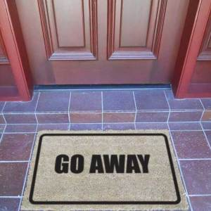 Door Mat - GO AWAY - Premium Quality-0