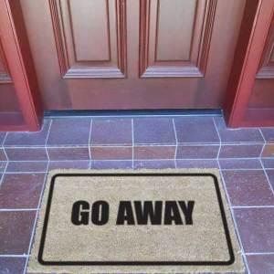 Door Mat - GO AWAY - Premium Quality-0