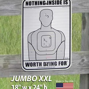 "NEW! JUMBO Nothing Inside Worth Dying For® - 18"" x 24"" Aluminum-0"