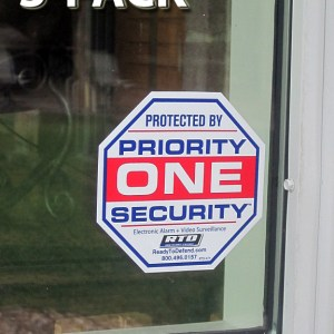 RTD-X2Y - 3 x Single Decals - Priority One Security Systems-0