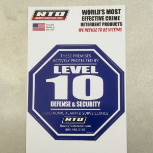 RTD-X3Y - 3 Pack of Single Decals - Level 10 Security Systems-0