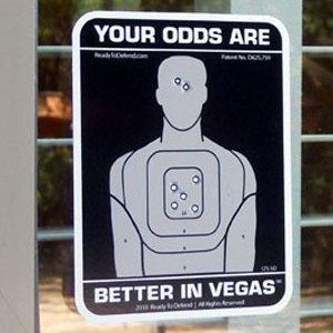 "3-Pack ""Your Odds Are Better In Vegas"" Security Window Decals-0"