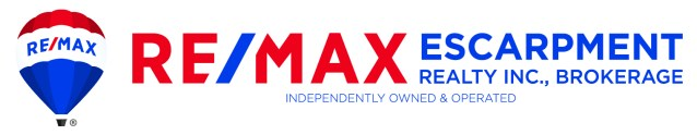 Remax Escarpment Side Logo Red and Blue w Balloon CMYK 300dpi - Recently sold on Central Avenue, Hamilton
