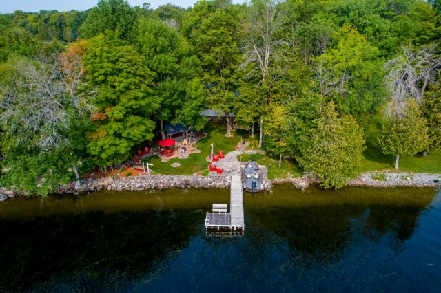 008 26 fire rte 103 bobcaygeon ON aerial - WATERFRONT ~ 4 SEASON COTTAGE FOR SALE ON PIGEON LAKE