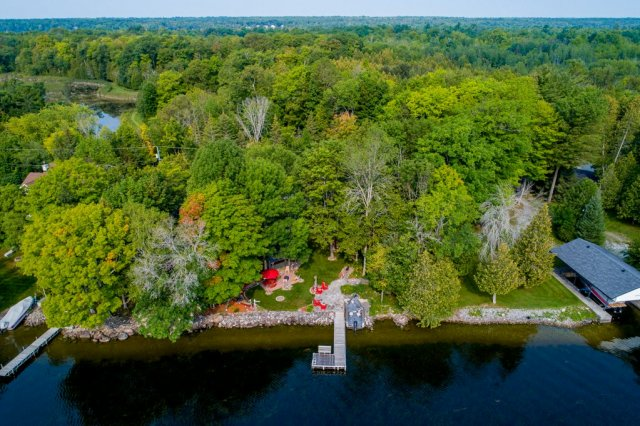 009 26 fire rte 103 bobcaygeon ON aerial2 - WATERFRONT ~ 4 SEASON COTTAGE FOR SALE ON PIGEON LAKE