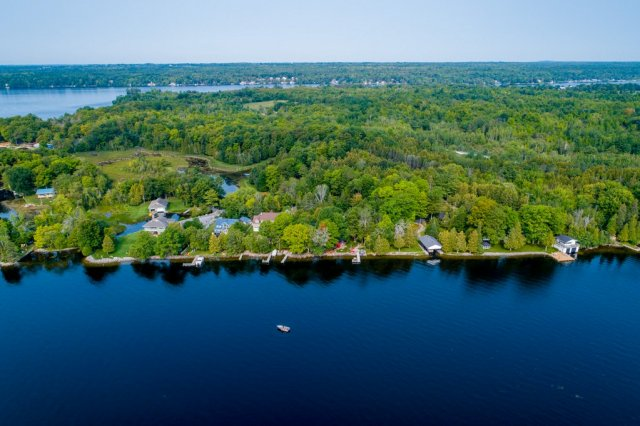 013 26 fire rte 103 bobcaygeon ON aerial6 - WATERFRONT ~ 4 SEASON COTTAGE FOR SALE ON PIGEON LAKE