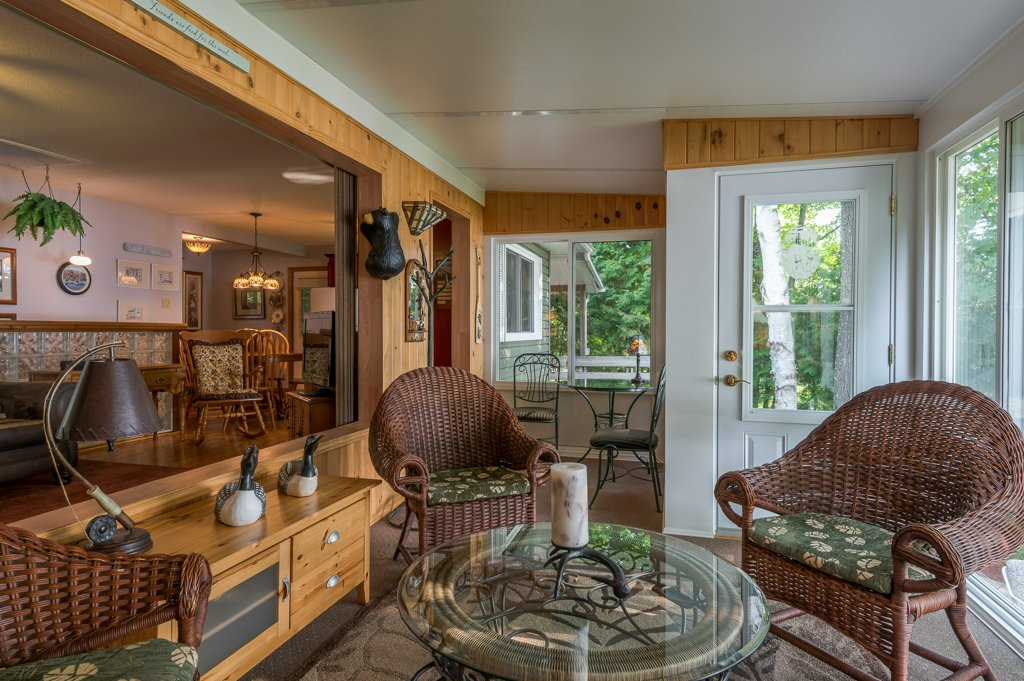046 26 fire rte 103 bobcaygeon ON sunroom3 - WATERFRONT ~ 4 SEASON COTTAGE FOR SALE ON PIGEON LAKE