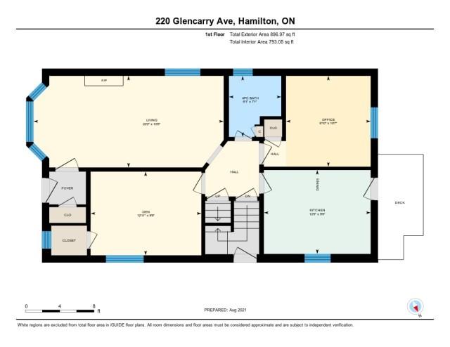 900 220 Glencarry Hamilton floor plain main - Recently SOLD ~ East Hamilton