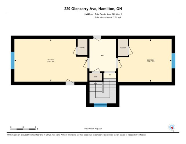 901 220 Glencarry Hamilton floor plan upper - Recently SOLD ~ East Hamilton