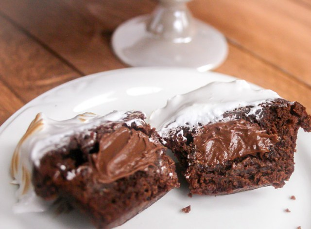 Nutelle hot chocolate brownie bite