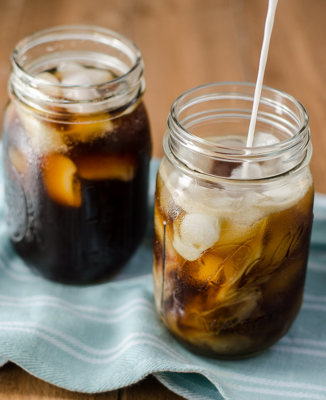 Cold Brew Coffee - Perfect for warm weather, and easy to make! Smooth and refreshing, cold brew coffee is a pick-me-up with less bitterness than a traditional brew.