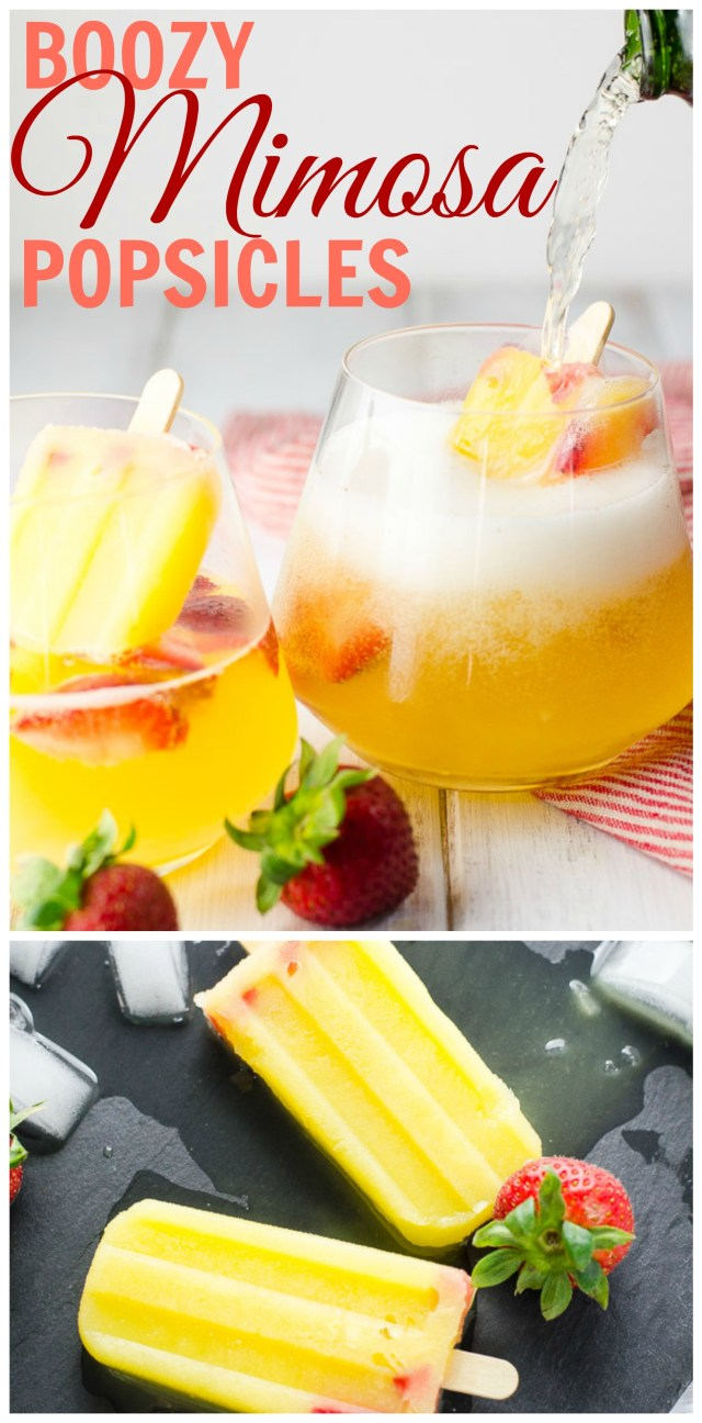 These boozy popsicle mimosas (poptails!) are like: Hello inner child. Have a drink.