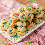 Mini M&M Peanut Butter Cookies