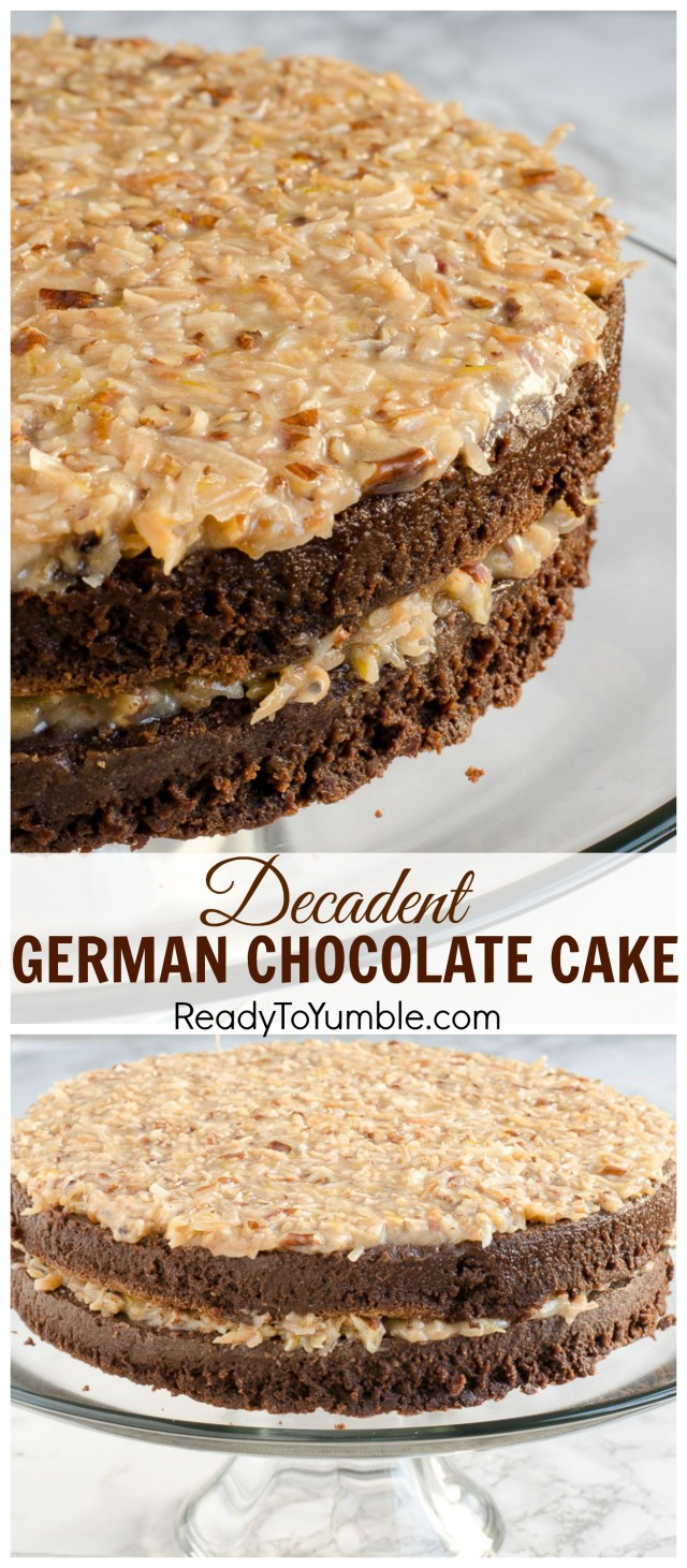 Decadent German Chocolate Cake - Ready to Yumble