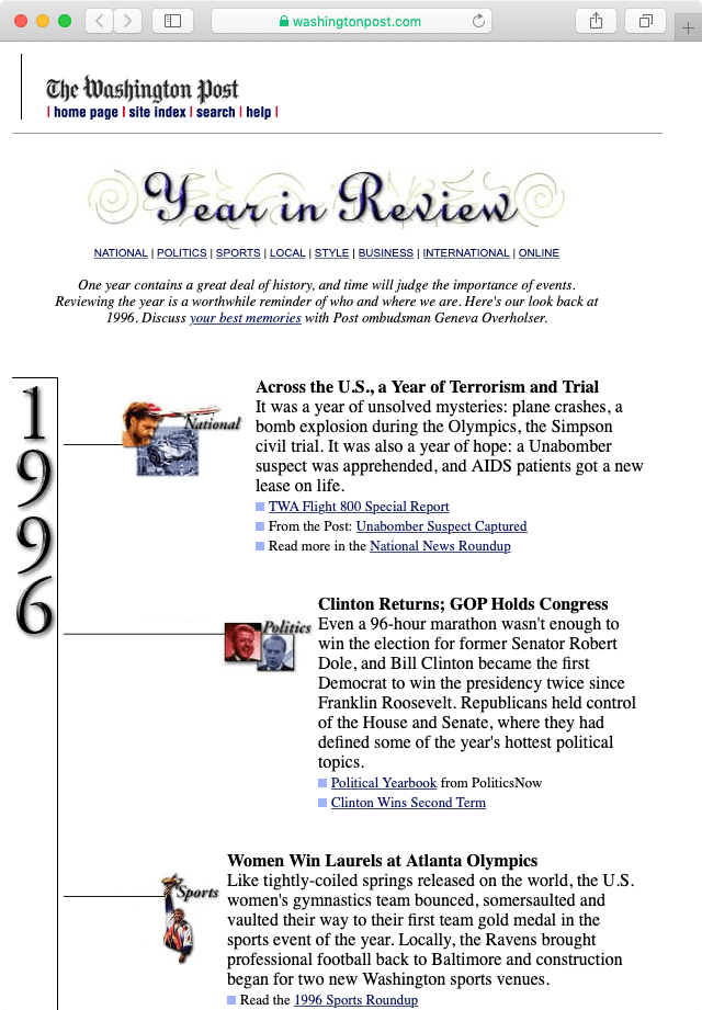 1996 Year in Review