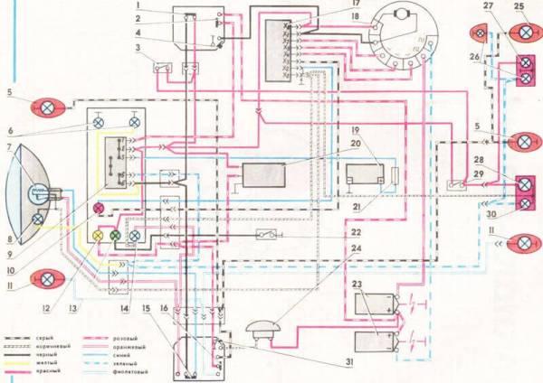 Cхема проводки ИЖ Юпитер 4: схема электрооборудования ...