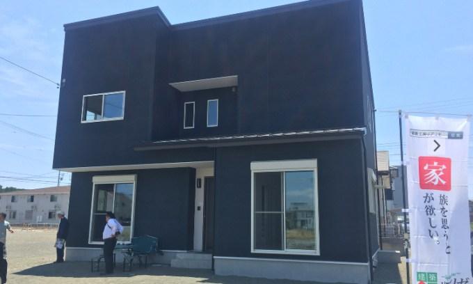 清水区の注文住宅 北側接道を活かした間取りが良いシンプルモダンなデザインの家の画像