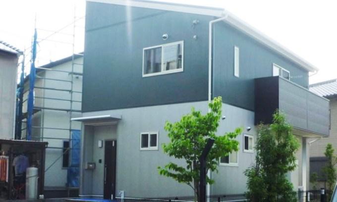 26坪の間取りのシンプルデザインの家の画像