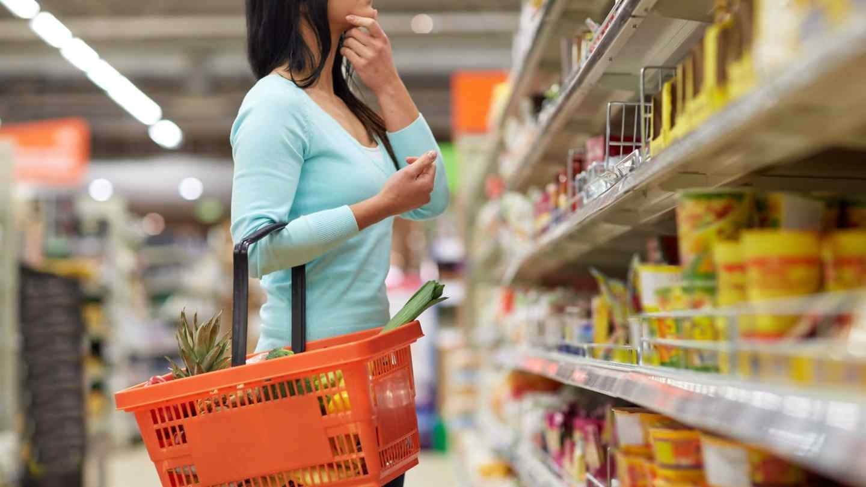 woman shopping aisle