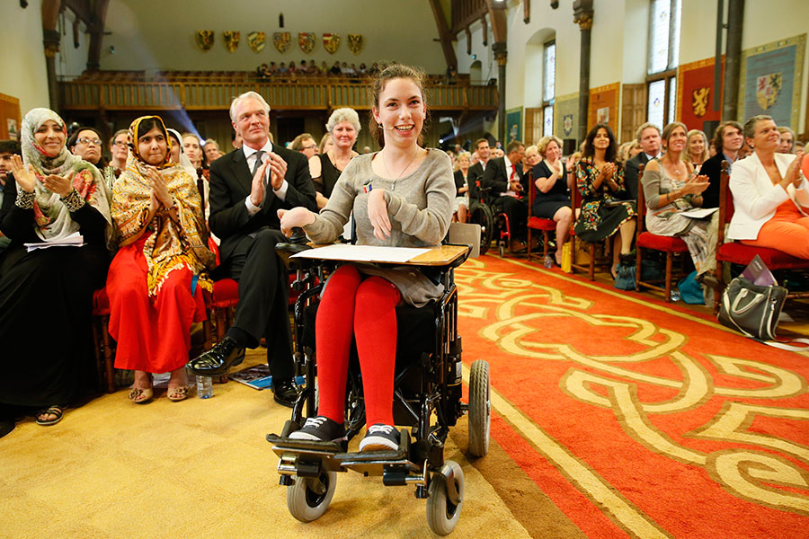 Chaeli Mycroft of South Africa won for her work to establish rights for children with disabilities.