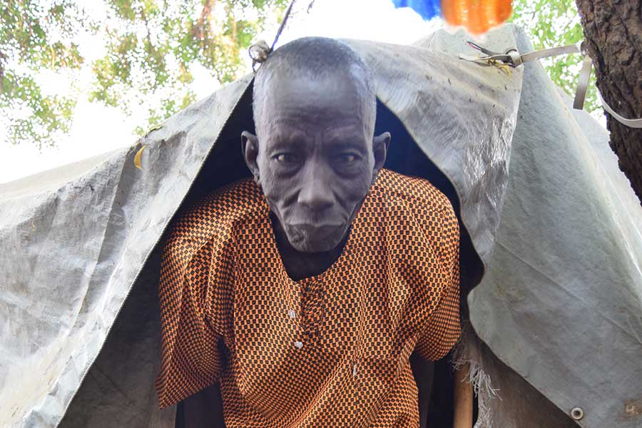 Oboch, 86 years old, South Sudan.