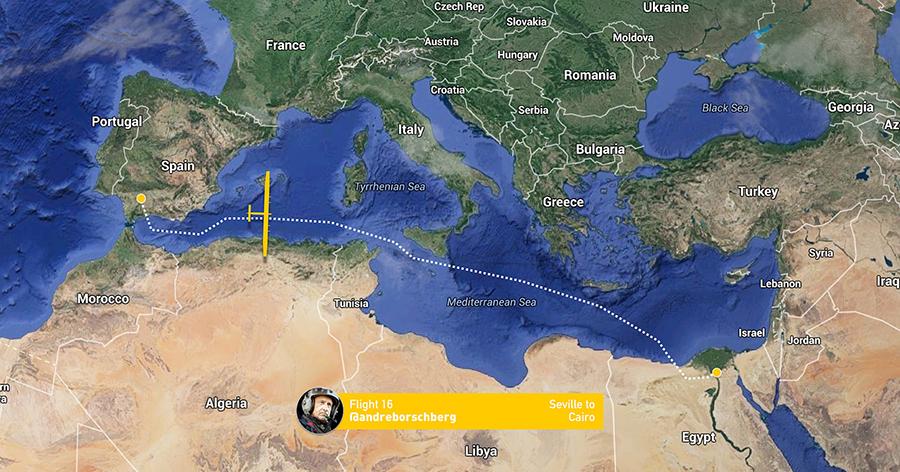 solar impulse route