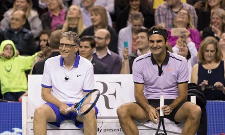 Bill Gates And Roger Federer Team Up in Match For Africa