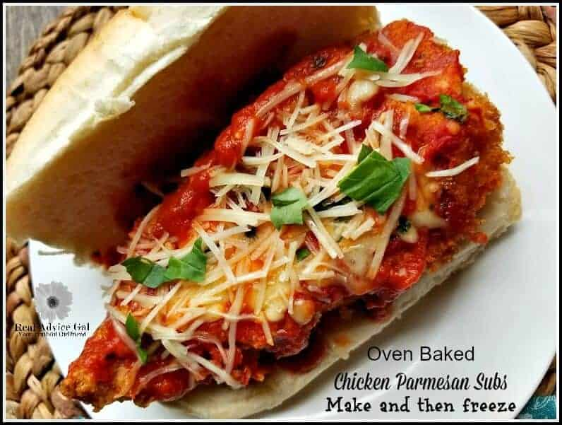oven baked Chicken Parmesan Subs