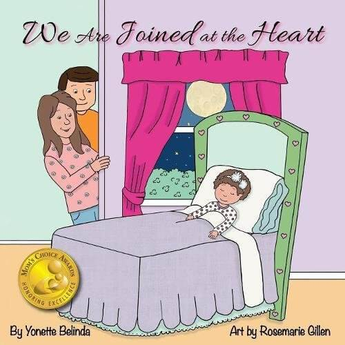 We are joined at the heart by Yonette Belinda is a memorable baby shower gift for parents to be.