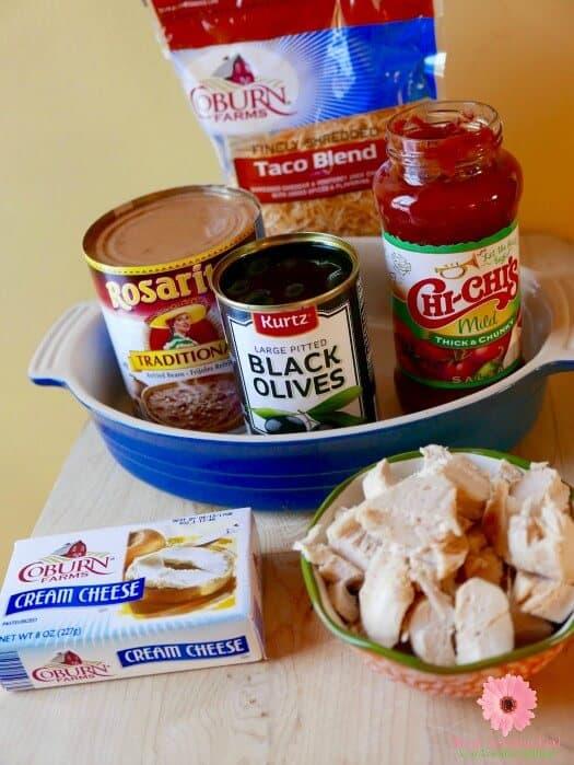 Easy Chicken Taco Dip Ingredients