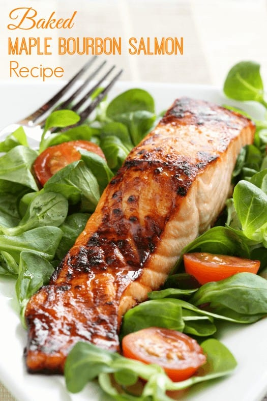 Baked Maple Bourbon Salmon Recipe