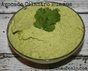 Avocado-Cilantro-Hummus