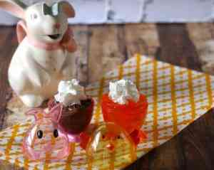 bunny and duck with whip cream
