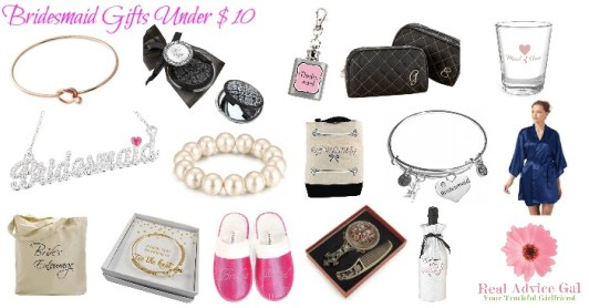 Cheap Bridesmaids Gifts Under 10