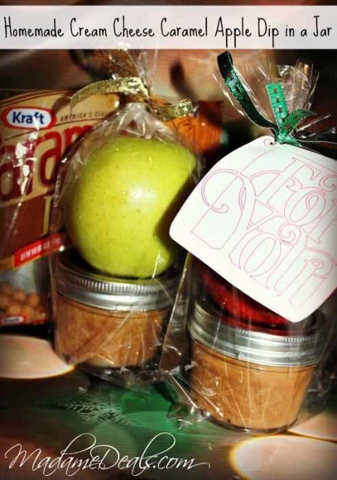 Check out our tips for this super easy Cream Cheese Caramel Apple Dip!  Perfect gift in a jar recipe for holidays or just because!