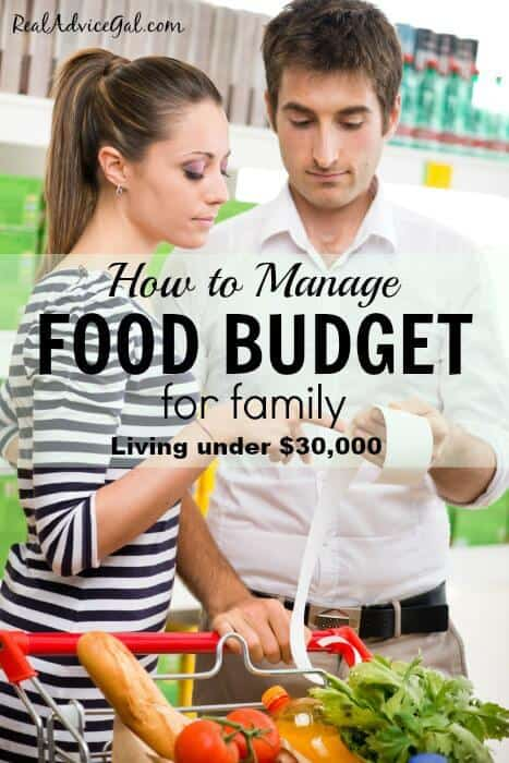 Learn How To Budget Plan For Food For A Family with our tips! Get the frugal tips and be able to live and thrive under $30,000 so you can save money!