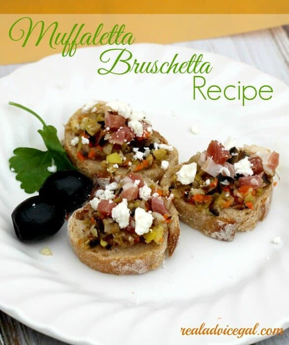 muffaletta bruschetta recipe