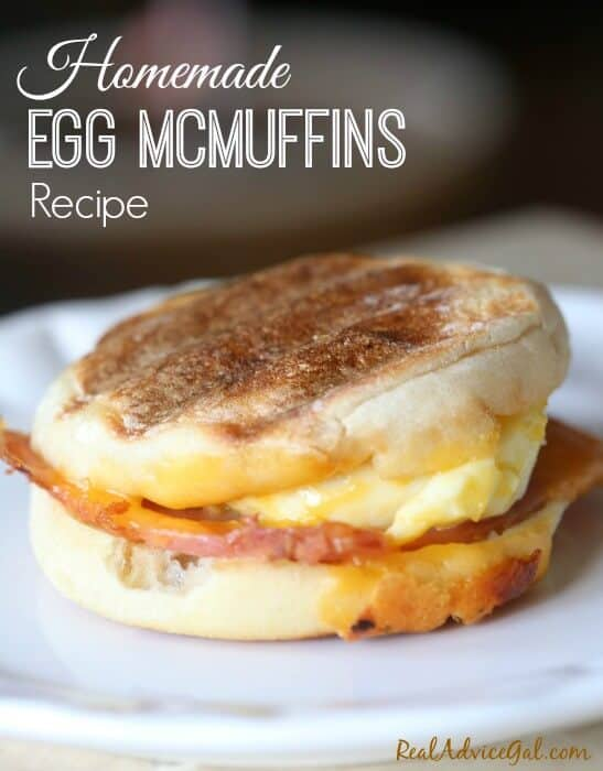 Homemade Egg McMuffins Recipe that's so easy to make and perfect for feeding a large group of people or for busy days.