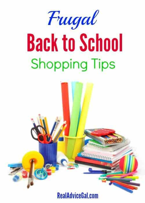 Frugal Back to School Shopping Ideas