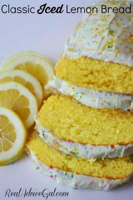 classic iced lemon bread
