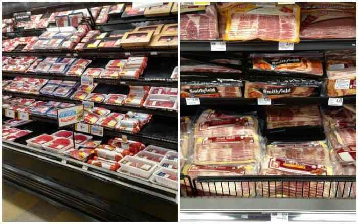 Food Lion beef and bacon