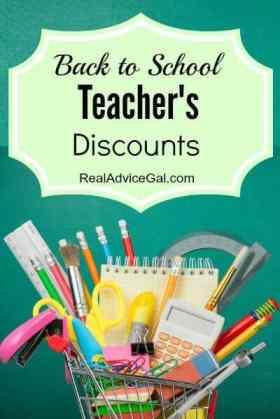 Back to School Teacher's Discounts