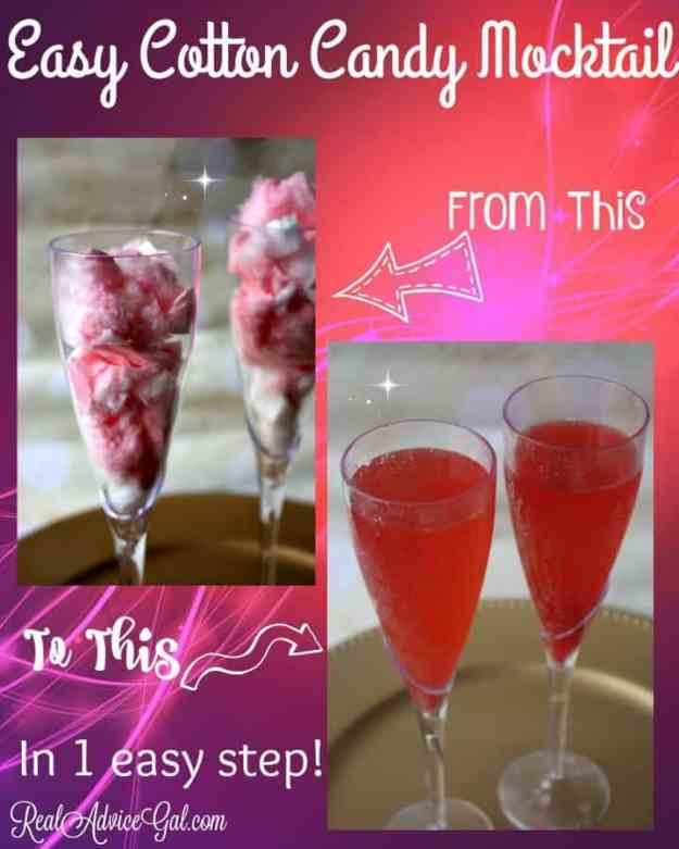 cotton candy mocktail recipe for kids