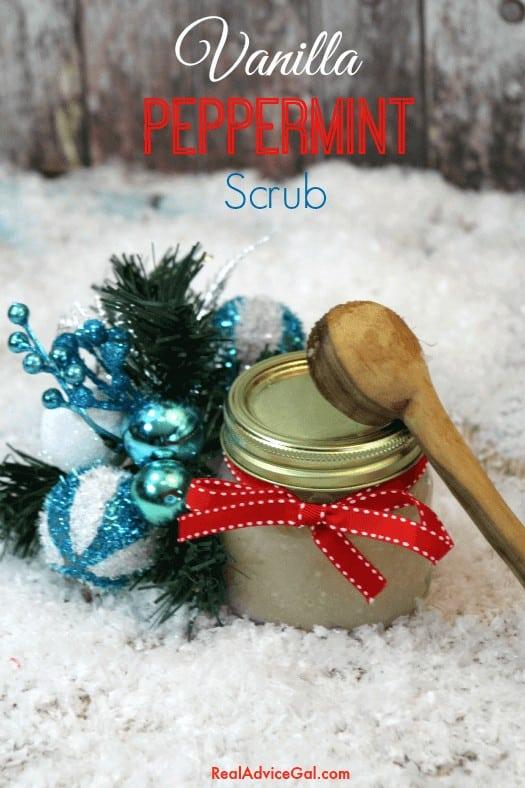 Homemade Vanilla Peppermint Scrub
