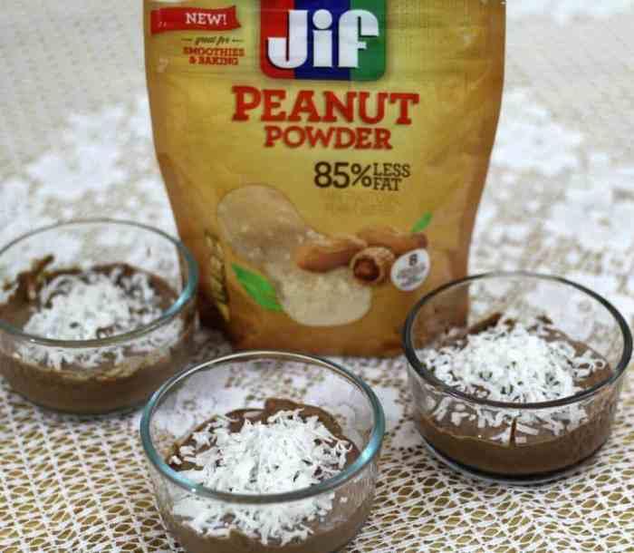 Jif Peanut powder chocolate pudding with chia seeds