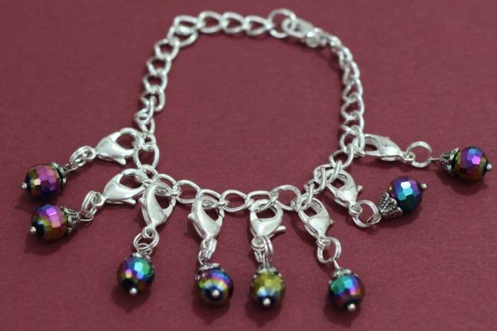 My don't forget to drink your water clip on charm bracelet