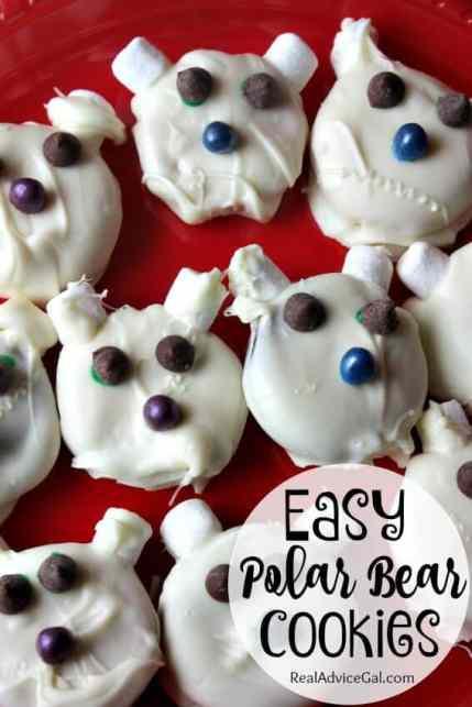 easy polar bear cookies recipe